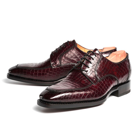 Carlton Croc Printed Derby // Wine (US: 7)