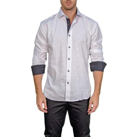 Logan Long-Sleeve Button-Up Shirt // White (XS)