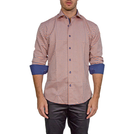 Mason Long-Sleeve Button-Up Shirt // Orange (XS)