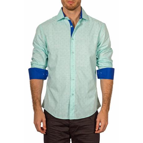 Carter Button-Up Shirt // Light Green (XS)
