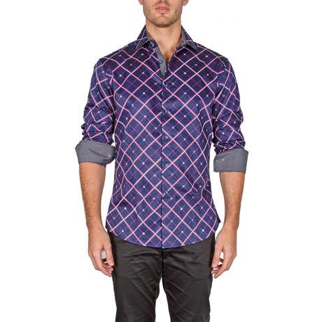 Jayden Button-Up Shirt // Navy (XS)