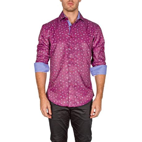 Michael Button-Up Shirt // Burgundy (XS)