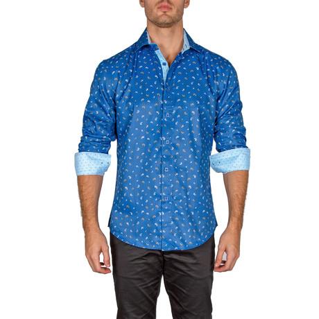 Michael Button-Up Shirt // Royal Blue (XS)
