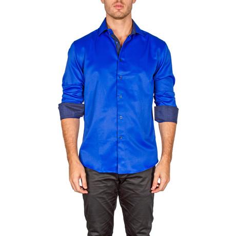 John Button-Up Shirt // Royal Blue (XS)