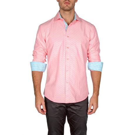 David Button-Up Shirt // Pink (XS)