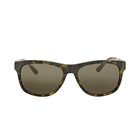 Burberry // Unisex Acetate Sunglasses // Green + Brown + Havana Brown