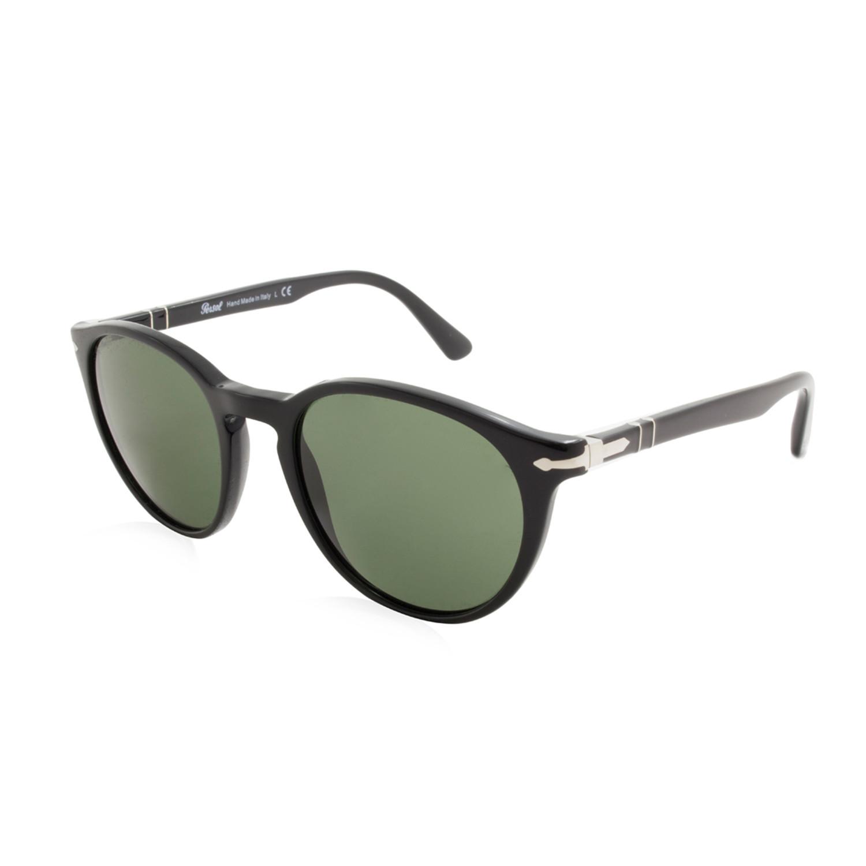 Persol Classic Round Sunglasses // Black - Persol