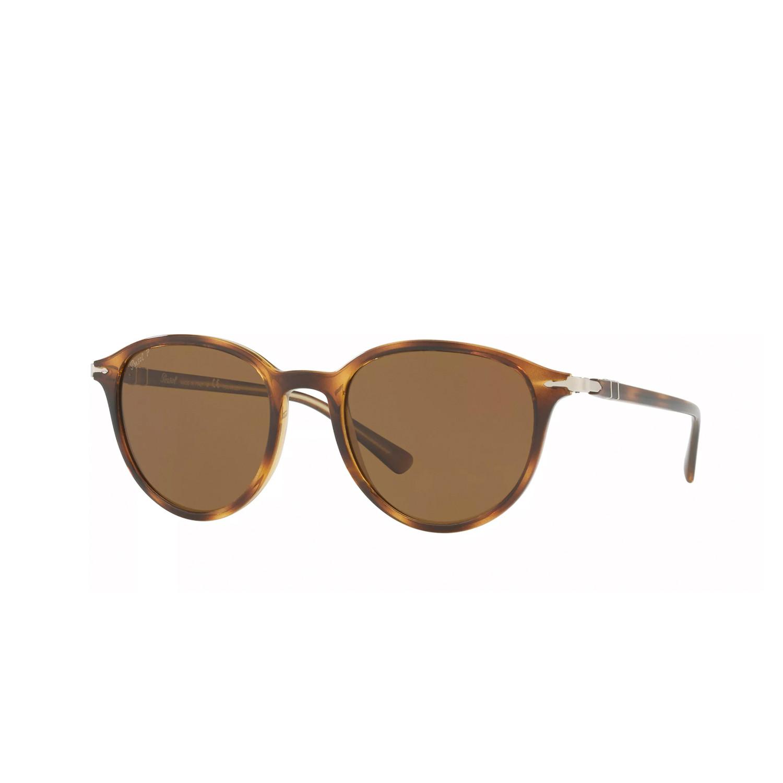 59b266441a Persol Polarized Classic Rectangular Sunglasses    Havana - Persol ...