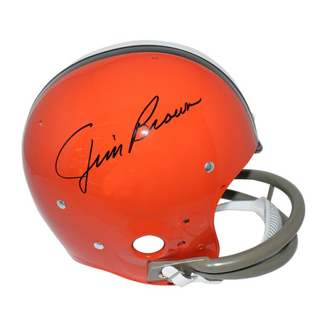 Signed Replica Cleveland Browns Throwback Helmet // Jim Brown