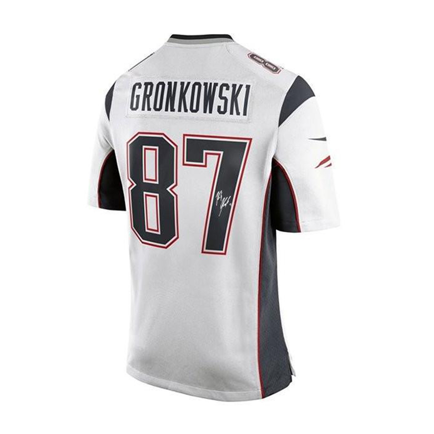 separation shoes dcd76 0edd5 Signed New England Patriots Replica Jersey // Rob Gronkowski ...