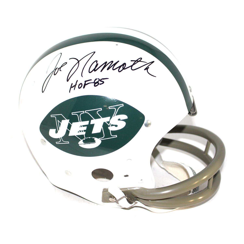 21b40d7f77e0aea79e5afe94d02cce1c medium · Joe Namath Signed NY Jets Helmet 1d4999596