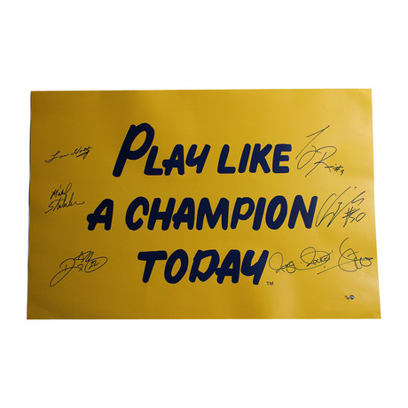1988 Notre Dame 6 Signature Poster // Limited Edition