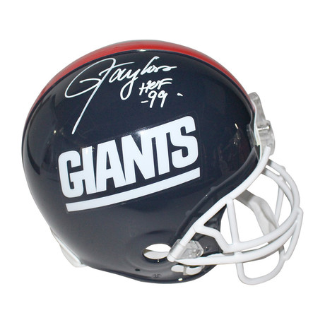 Signed NY Giants Throwback Helmet // Lawrence Taylor