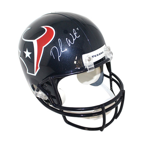 Deshaun Watson // Signed Houston Texans Replica Helmet