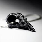 Black Raven Skull Pendant