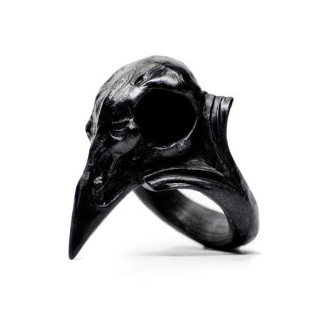 Raven Skull Ring (Size: 5)