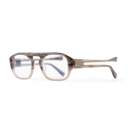 Shackleton // Double Temple Frame // Smoky Beige