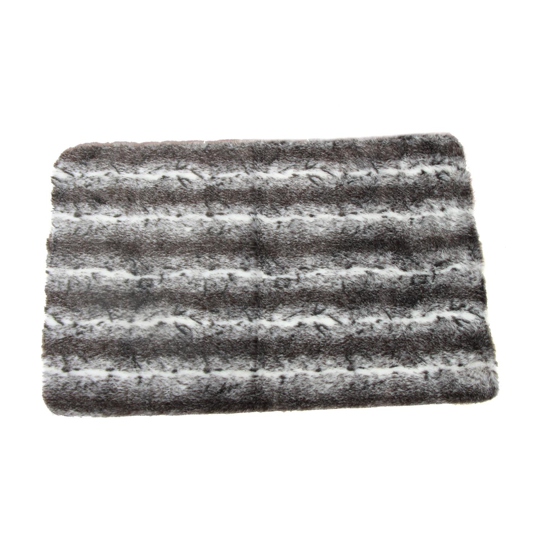 Luxury Decorative // Faux Fur Rug // Beige + Silver