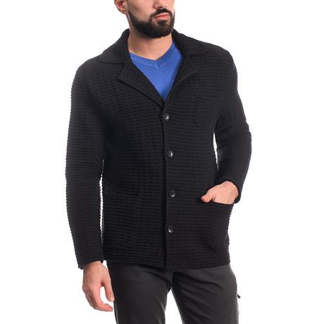 Wool Button Jacket // Black (L)