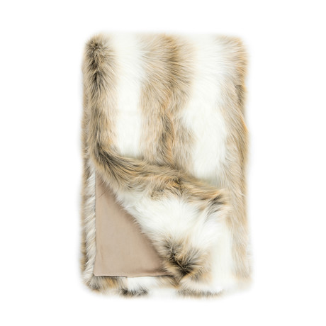 Limited Edition Faux Fur Throw // Arctic Fox
