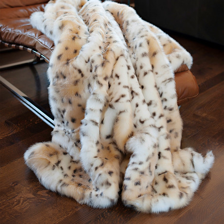 Limited Edition Faux Fur Throw // Snow Leopard