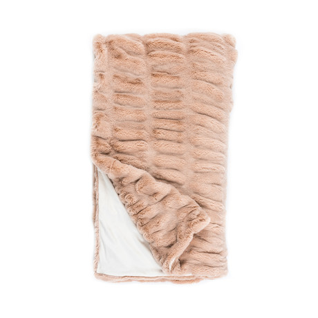 Couture Faux Fur Throw // Rose Mink