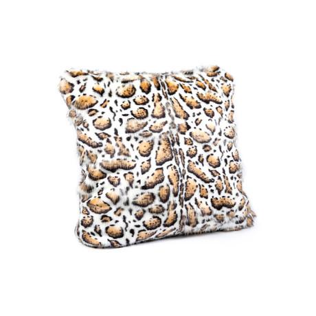 """Limited Edition Faux Fur Pillow // Clouded Leopard (18""""L x 18""""W)"""
