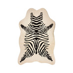 Faux Hide Rug // Zebra