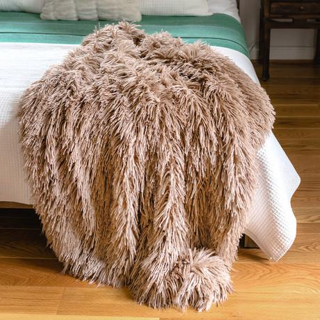 Signature Faux Fur Throw // Alpaca