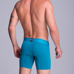 Microfiber F.E. Long Boxer // Green Blue (XS)