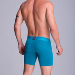 F.E. Long Mesh Boxer // Green Blue (S)