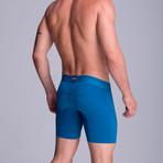 F.E. Long Mesh Boxer // Petroleum Blue (XS)