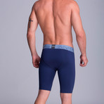 Extra Long Athletic Boxers // Dark Blue (S)