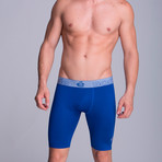 Extra Long Athletic Boxers // Electric Blue (XS)