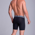 Long Full Mesh Boxer // Black (S)