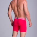 Full Mesh Long Boxer // Cerise (S)