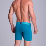 Long Full Mesh Boxer // Green Blue (XS)
