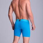 Full Mesh Long Boxer // Turquoise (S)