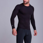 Long Sleeved Athletic Shirt // Black (XS)