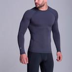 Long Sleeved Athletic Shirt // Grey (XS)