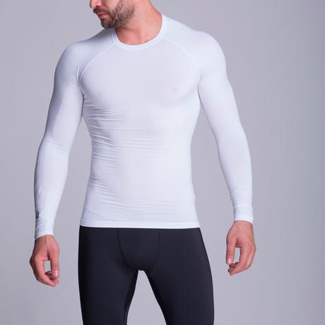 Long Sleeved Athletic Shirt // White (XS)