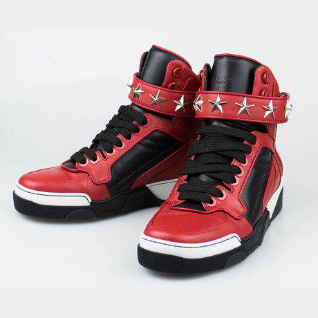 Leather High-Top Fashion Sneakers Shoes // Red (US: 6)