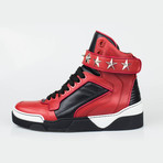 Leather High-Top Fashion Sneakers Shoes // Red (US: 7)