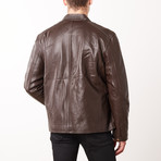 Mason + Cooper Ethan Leather Jacket // Brown (S)