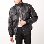 Wilda Razor Leather Jacket // Black (L)