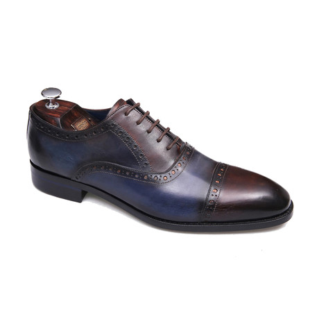 Lennox Shoe // Brown + Dark Blue (Euro: 40)