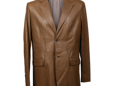 Photo of CLEARANCE: Outerwear We've Got You Covered Leather Overcoat // Brown (L) by Touch Of Modern