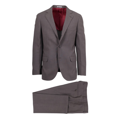Climaco Wool Blend Suit // Brown (Euro: 46)