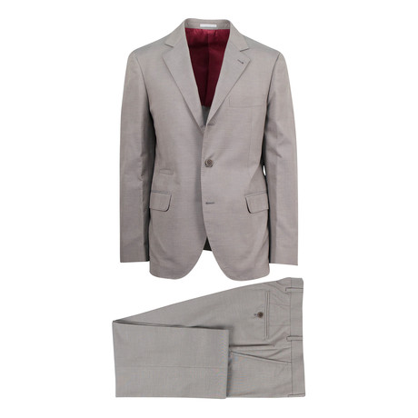 Niniano Wool Blend Suit // Brown (Euro: 46)