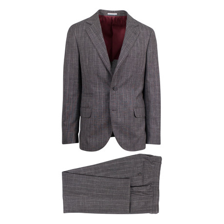 Senatore Wool Blend Suit // Brown (Euro: 46)